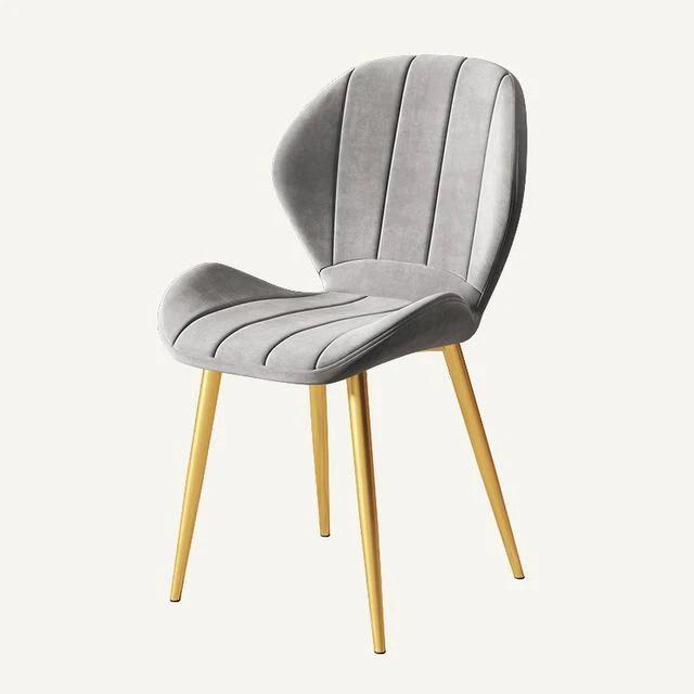 chaise scandinave cuir gris deco nordique