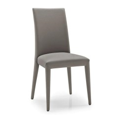 Leather Chair Modern Director Chairs Covers Calligaris Anais Dining Seating In Taupe