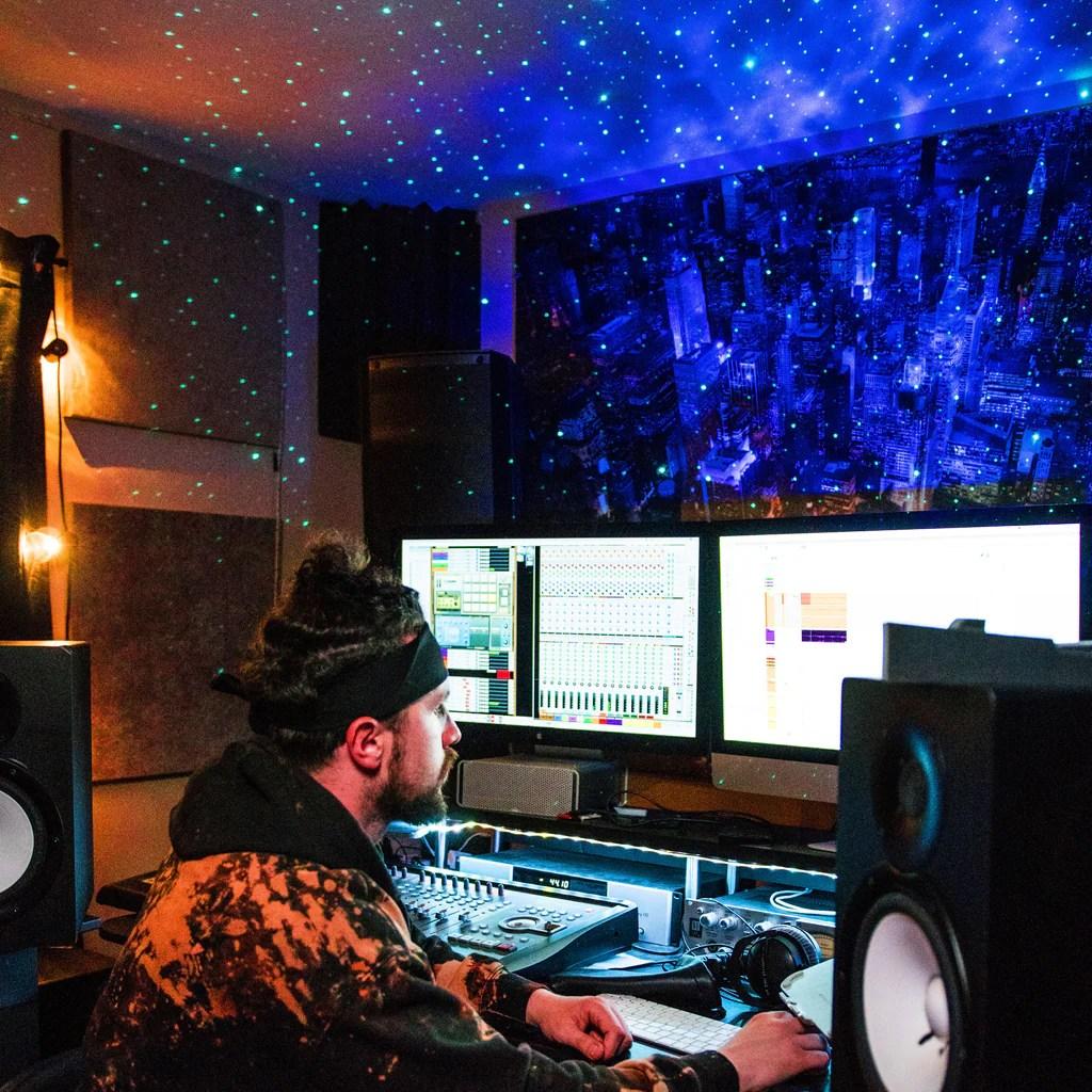 recording studio lighting that sets the