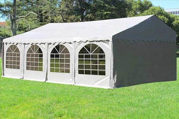 PVC Party Tent 26x16  White  Heavy Duty  Deltacanopy
