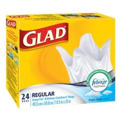 Glad Kitchen Bags Hood Supermarche Pa Catchers 24 Units