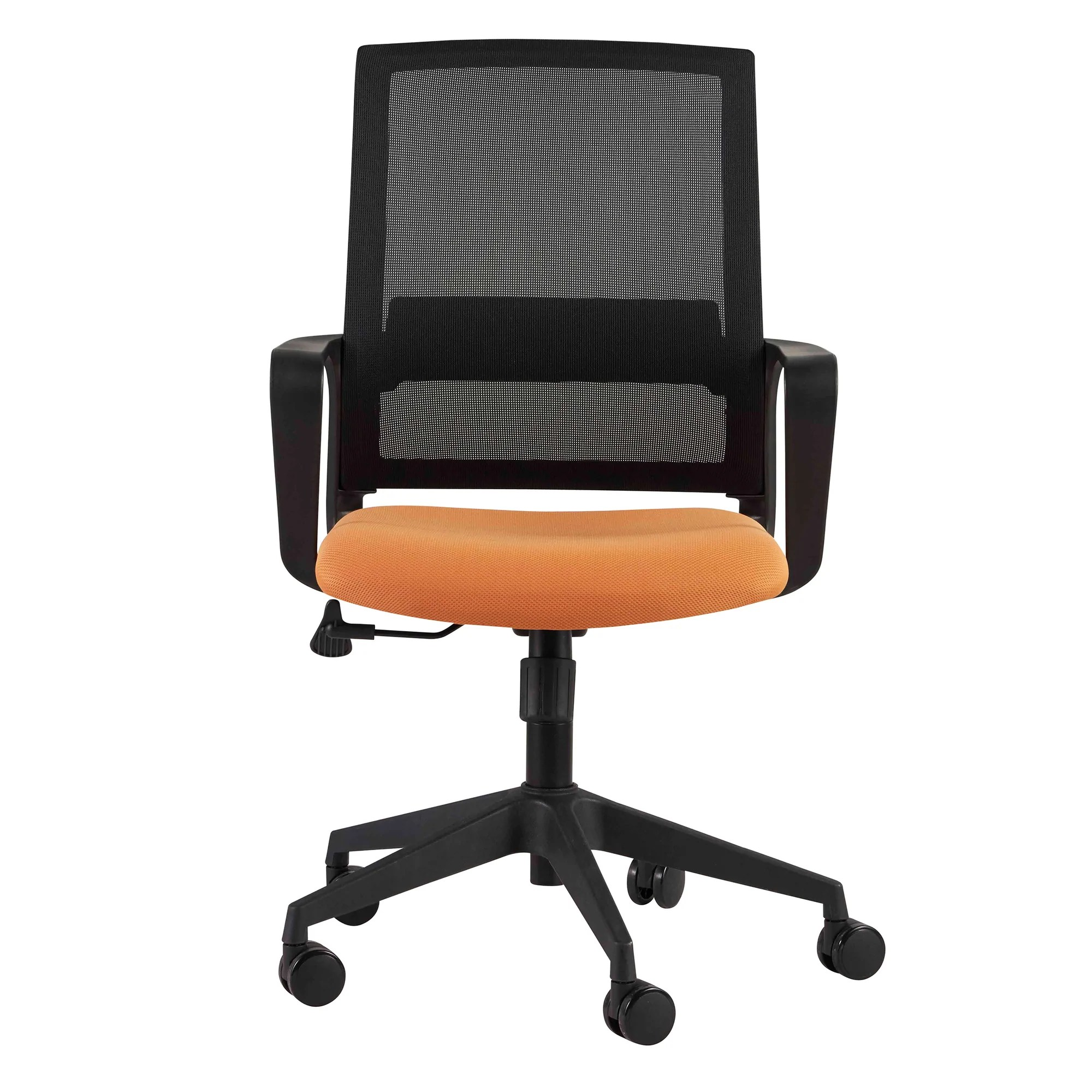 Orange Office Chairs Classic Orange Black Mesh Office Chair