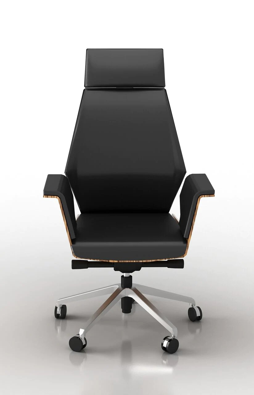 wood and leather executive office chairs dorado chair black eco w zebrano veneer