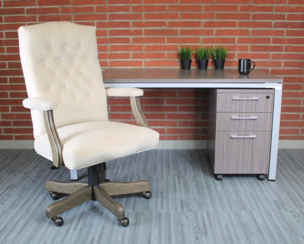 tufted desk chair gaming on stand elegant cream driftwood button office officedesk com