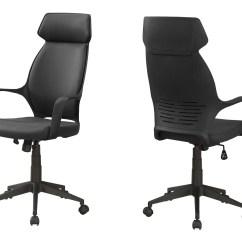 Microfiber Office Chair Kohls Rocking Cushions High Back Black Officedesk Com