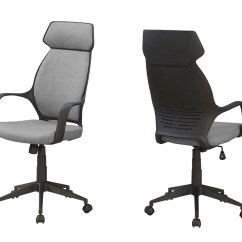 Microfiber Office Chair Dining Room Chairs Walmart High Back Gray Officedesk Com