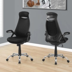 Office Chair With Headrest How To Make Bean Bag Cover Comfortable Ergonomic Black Mesh Officedesk Com