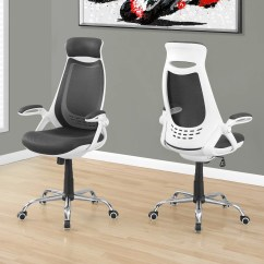 Office Chair With Headrest Wood Living Room Chairs Ergonomic White Black Mesh Officedesk Com