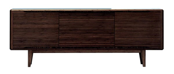 Solid Bamboo 60 Modern Executive Desk with Drawer in
