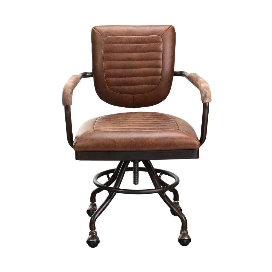 chair with wheels air hydrofoil rustic top grain leather office officedesk com