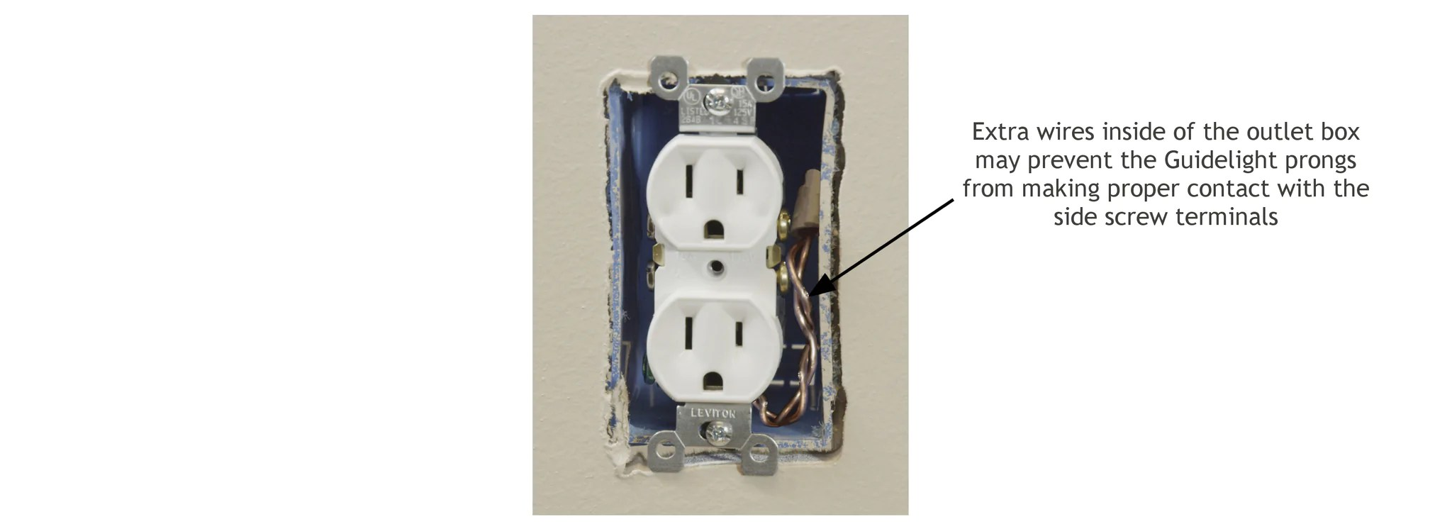 medium resolution of the wires will need to be moved away from the screw terminals in order for the guidelight to work if you are unsure of how to do this properly or are