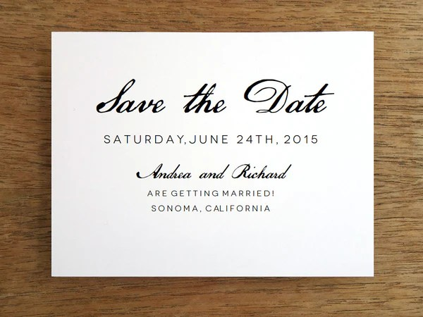Printable Save The Date Calligraphy Monogram Empapers