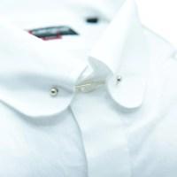 Men's White Tie Bar Shirt | Italian Shirt  7camicie shirts
