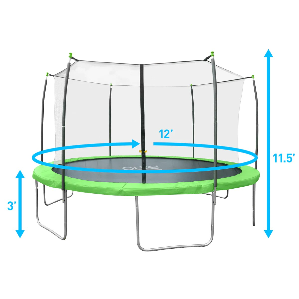 Pure Fun Dura-bounce 12-foot Trampoline With Enclosure