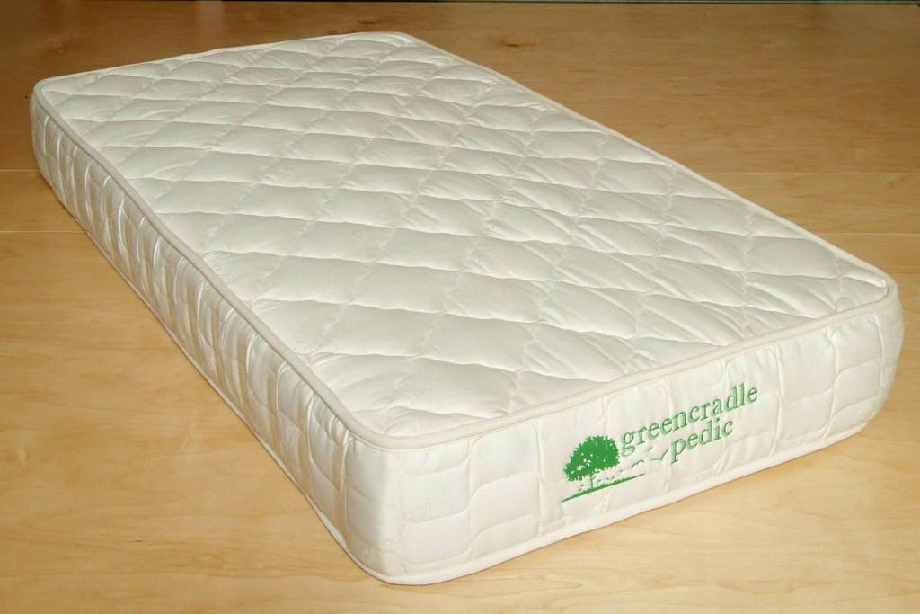 Crib Innerspring Mattress Natural Baby Bedding Organic
