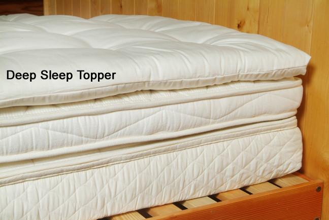 Organic Cotton  Wool Quilted Mattress Topper Soft