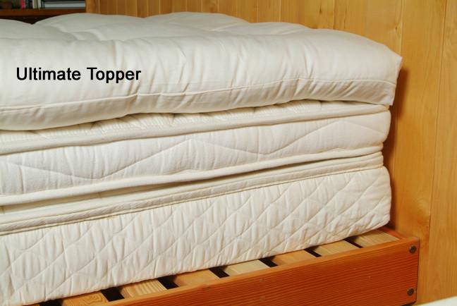 Organic Cotton  Wool Quilted Mattress Topper Soft Natural Pillow Top  Holy Lamb Organics