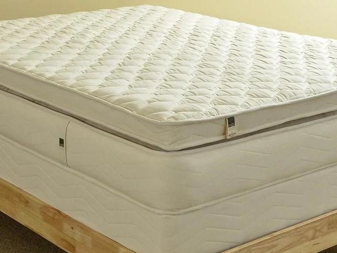 natural mattress pillow top spring