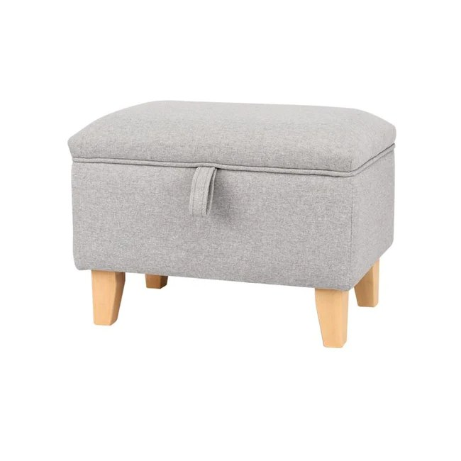 small sized linen upholstered storage
