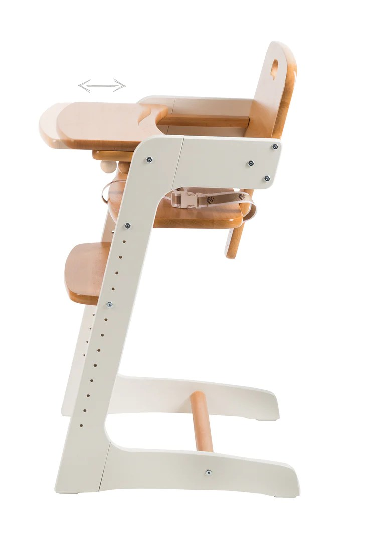 roba staircase high chair kid up solid wood white natural with gr