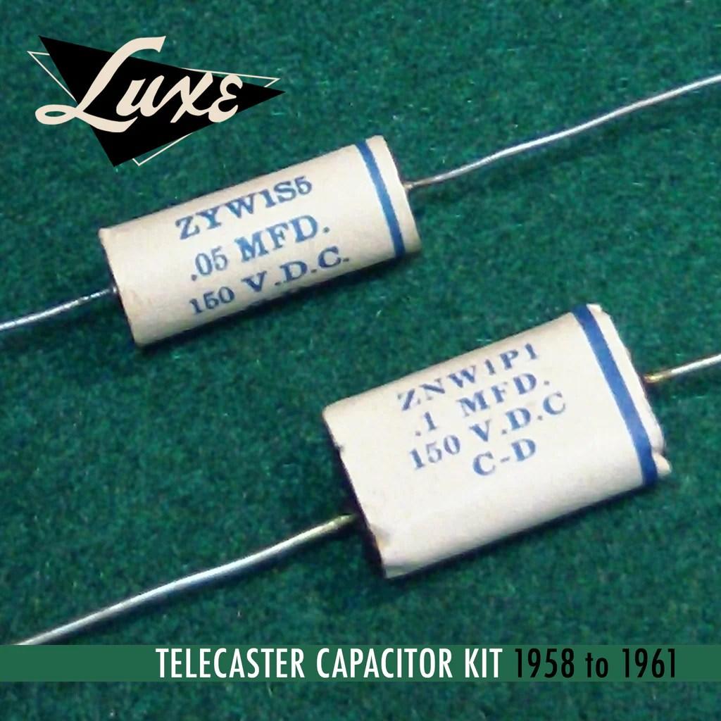 1958 1961 telecaster wax impregnated paper foil 1mf 05mf capacitors [ 1024 x 1024 Pixel ]