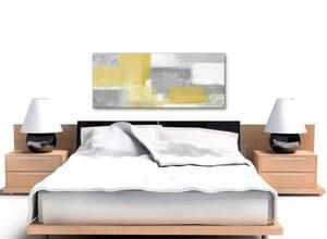 Mustard Yellow Grey Abstract Canvas Print Wallfillers Co Uk