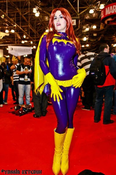 Latex Cosplay Batgirl inspired costume  Vengeance Designs