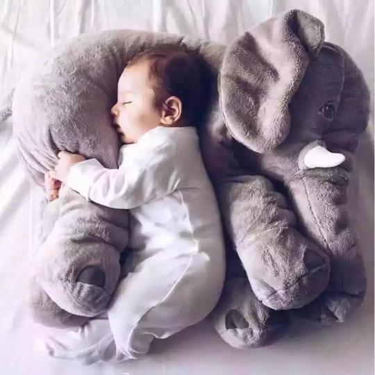 baby elephant hug pillow