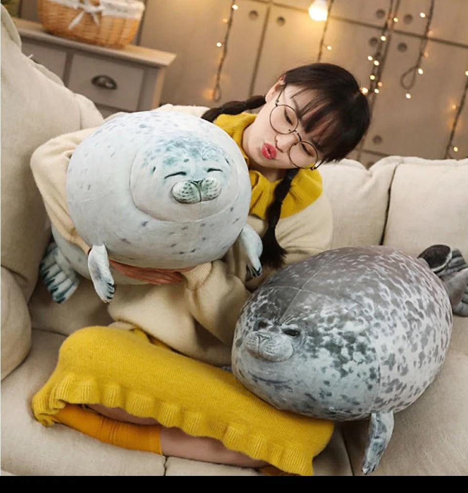 plush seal pillow