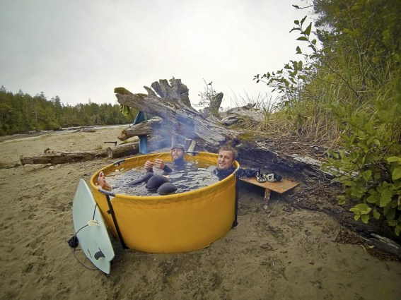 the original nomad portable hot tub