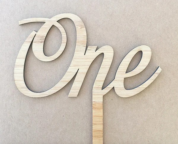 Cake Topper Written Numbers In A Cursive Font Grainampco