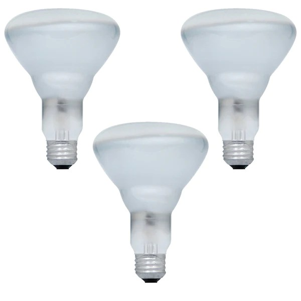 3pk sylvania 65w br30 600lm flood 120v incandescent light bulb