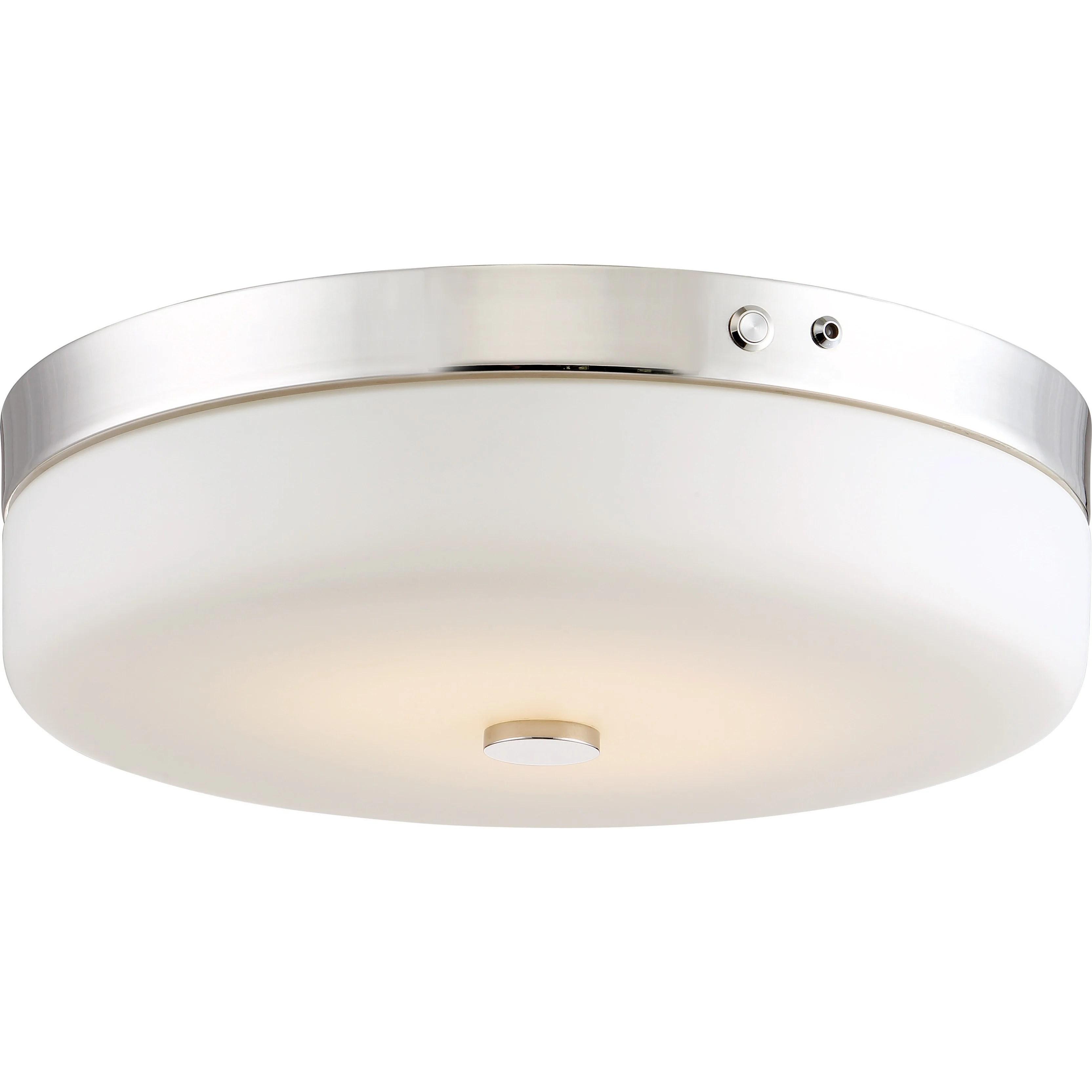 hight resolution of led emergency lighting flush fixture polished nickel finish battery backup ready