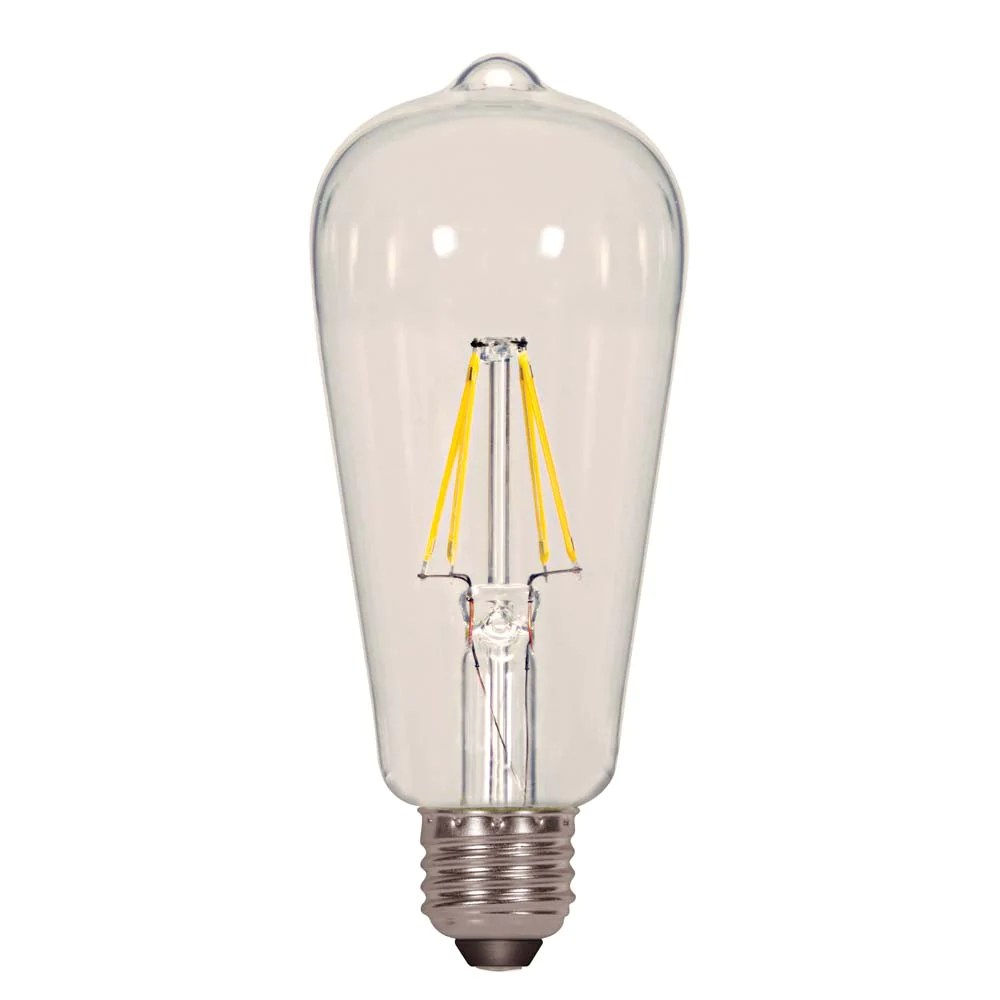 small resolution of satco 6 5w st19 led clear medium base 4000k 810 lumens 120 volts