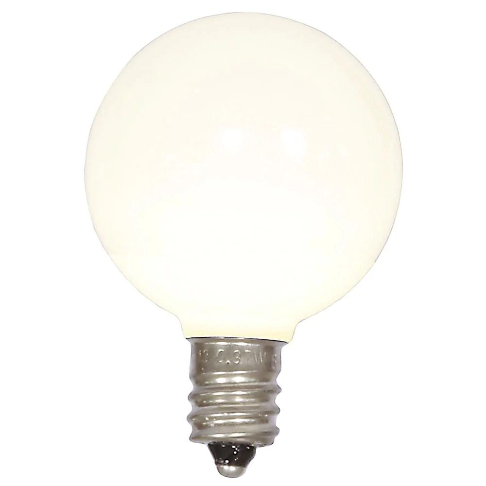 5pk vickerman warm white ceramic g40 led replacement bulb [ 1000 x 1000 Pixel ]