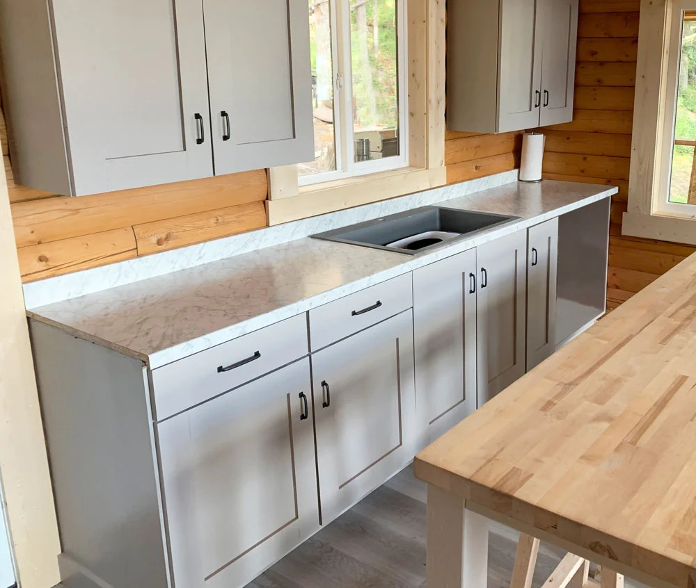 frameless kitchen base cabinet shelf help
