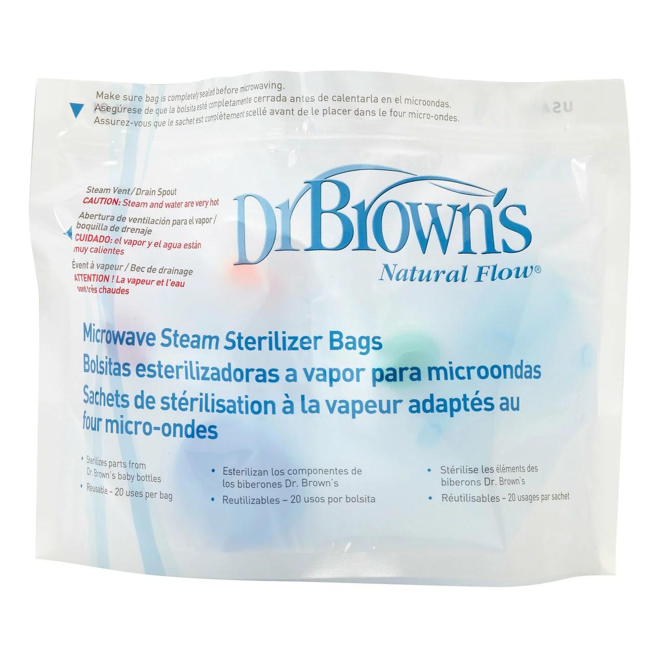dr browns options bags microwave steriliser bags