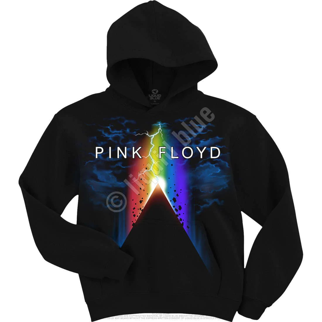 Pink Floyd Pyramid Power Hoodie Limited Blue Mountain