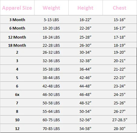 Size chart for little girls dresses strasburg children also sizing rh strasburgchildrens