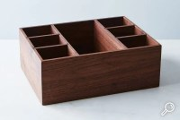 Silverware and Napkin Holder - The Wooden Palate
