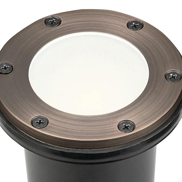 kichler 15481 mr16 brass in ground light with frosted glass 15481cbr kichler lighting lbc lighting