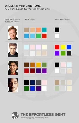 Warm skin tone dress colors