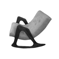 Adrian Pearsall Rocking Chair Metal Glider Rocker 812 Cr For Craft Associates Inc