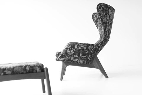 adrian pearsall chair designs yellow upholstered vintage archive catalogue craft associates wing for inc model 2231 c