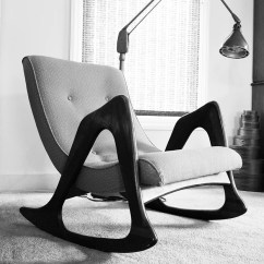 Adrian Pearsall Rocking Chair White Slipcovers Modern Rocker 812 Cr For Craft Associates Inc
