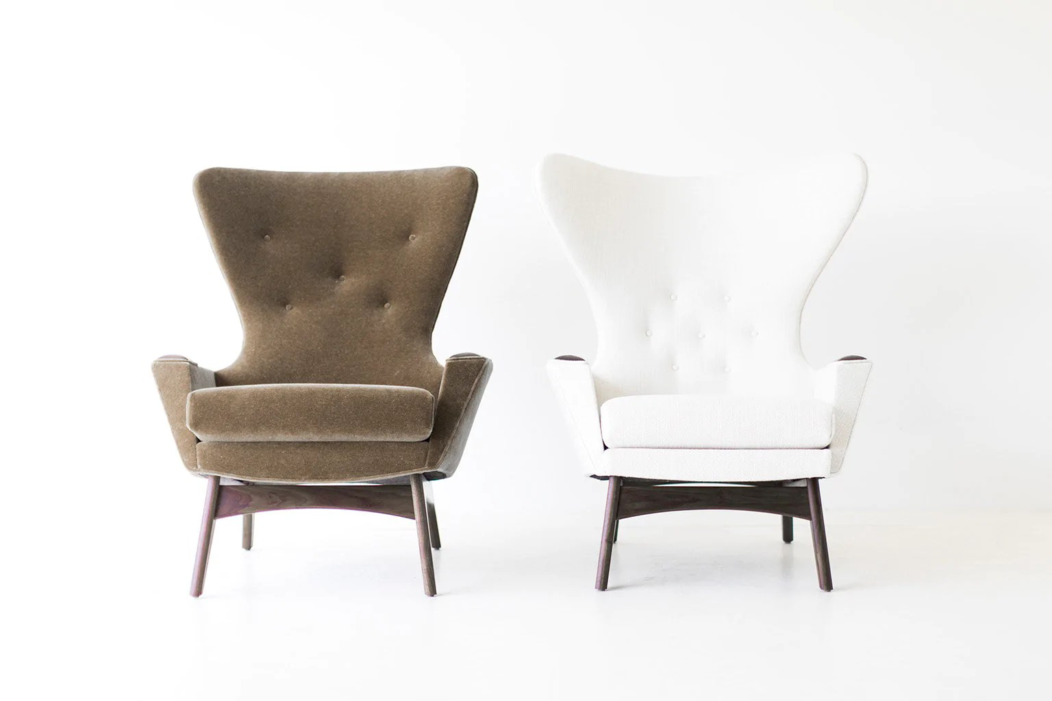 Modern Wing Chair Modern Mohair Wing Chairs 1407 And 1410 Craft Associates