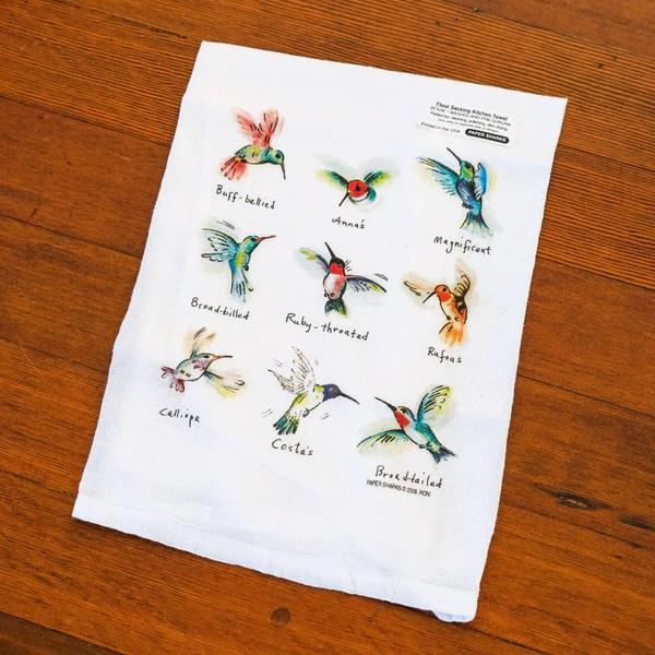 kitchen towels bulk lower cabinets hummingbirds flour sack towel - santa barbara company