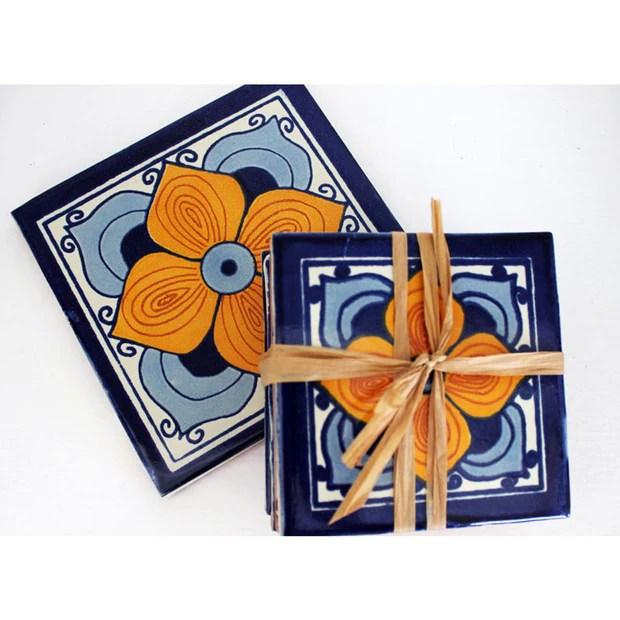 mari ceramic tile coasters