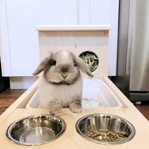 rabbit hay feeder with litter box food