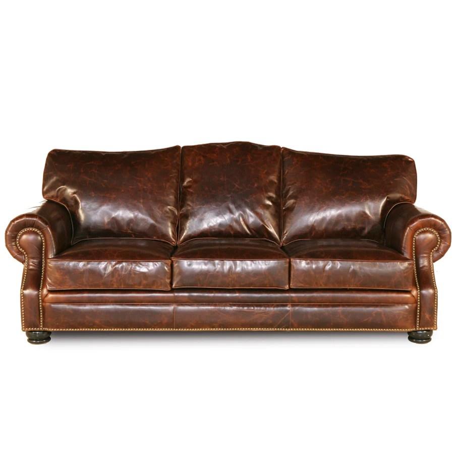 next brompton leather sofa design ideas brass nail handmade brown